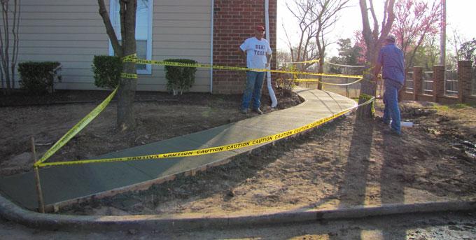 Sidewalk construction in Norman, OK