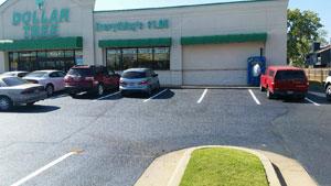 Commercial parking lot, asphalt paving in norman ok