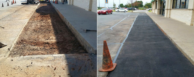 Parking lot repair service and asphalt paving in Norman OK