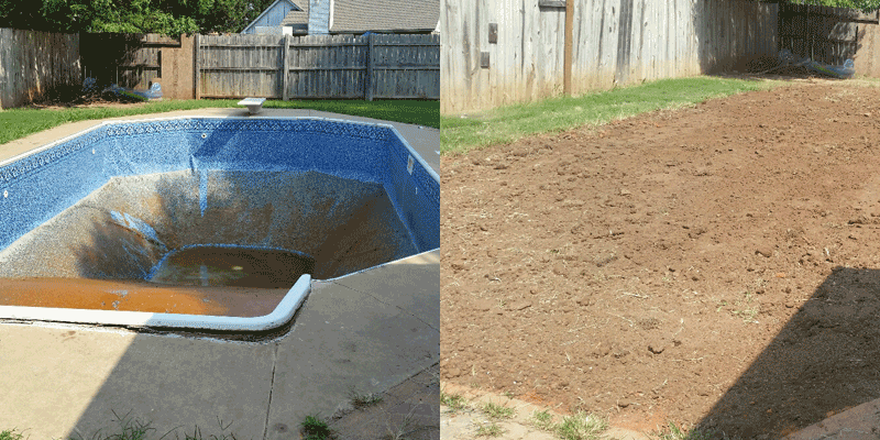 Pool removal demolition contractor in norman ok arbor - Regional park swimming pool midwest city ok ...