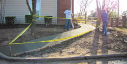 Sidewalk consruction in Oklahoma City